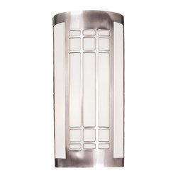 Minka Lavery - Minka Lavery 347-84-PL Brushed Nickel 2 Light Wall Sconce - Etched Opal Glass Shade