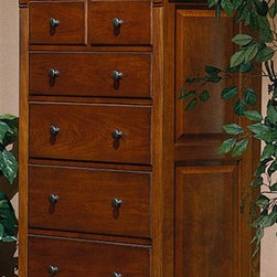 Winners Only - Americana 6-Drawer Chest - Six drawers. Ball bearing glides. Hidden lift-top jewelry storage. 38 in. W x 18 in. D x 54 in. H (188 lbs.)
