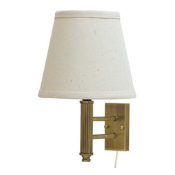 House of Troy - Greensboro Pin-up Wall Lamp - House of Troy GR902-AB - Antique Brass Finish. 12H x 8W x 9.5Deep. Takes one 75 watt Type A bulb (not included). Weight: 4 lbs. By House of Troy