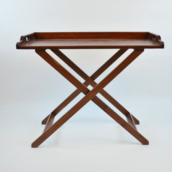Zimbabwe Teak Tray Table - Dimensions:L 39''  × W 20''  × H 31''