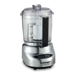 Cuisinart - Cuisinart 4-Cup Mini Food Processor - Chop or grind vegetables, meats, nuts and more with the simple touch of a button. This stylish mini food processor will be a great, modern addition to your kitchen.