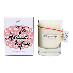 Joya - Alhambra Perfume Candle - The natural. This beautiful candle teams natural soy with beeswax for a pure burning flame and adds in winning combination of rich essential oils to keep your home environment as close to perfect as possible.