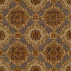 """Karastan - Karastan Carmel 74700-13133 (Bristol Lane Gray) 5'6"""" x 8'3"""" Rug - Floral motifs, sophisticated graphic patterns and modern damasks take center stage in the Carmel collection. Styled for today's relaxed living these fashion inspired patterns feature color palettes that are decorator friendly and offer the consumer an easy decorating choice."""