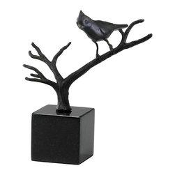Cyan Design - Cyan Design Cardinal on Branches Sculpture - Cardinal on Branches Sculpture