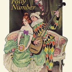 """Buyenlarge.com, Inc. - Folly Number - Framed Paper Poster 20"""" x 30"""" - Another high quality vintage art reproduction by Buyenlarge. One of many rare and wonderful images brought forward in time. I hope they bring you pleasure each and every time you look at them."""