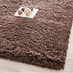 Safavieh - Safavieh Plush Super Dense Hand-woven Chocolate Premium Shag Rug (3' x 5') - With its rich,neutral color,this rectangular shag area rug is designed to fit easily into any interior decor scheme. Handwoven from luxurious,soft acrylic,the rug features a super-dense pile that feels comfortable under your feet.