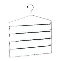 Richards Homewares - Vinyl 5 Tier Swing Arm Hanger - * Material: Natural bamboo
