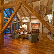 Traditional Living Room by HeritageBarns.com