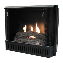 "Paramount - 23"" Gel Fuel Fireplace Insert - Turn almost any mantel into a beautiful and warm fireplace with this gel fireplace insert. Holding 3 canisters of iso-propyl gel fuel, it will provide 9000 BTU's and the sight and sound of real flame making it a luxurious addition to your home."