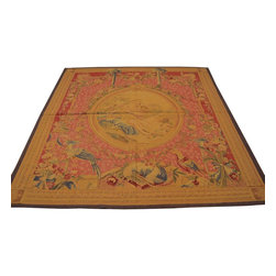 1800GetARug - Aubusson Tapestry Hand Woven Wall Hanging Sh8575 - About European