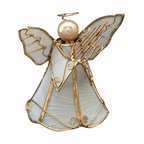 Kouboo - Holiday Ornament Angel in Scallop Seashell, Set of 2 - 1 year limited warrantyHandset scallop seashell on metal frameClean with dry, soft clothWeighs 0.25 lb