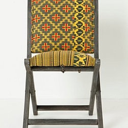 """Anthropologie - Overdyed Terai Chair, Citrine - Intended for indoor useSheesham wood frameCotton upholstery; polyfillSpot clean33""""H, 18""""W, 18""""DSeat: 17""""H Imported"""