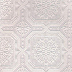 Graham and Brown - Paintables Super fresco Wallpaper - Small Squares Pattern - Designed by Array. Part of the Paintables Wallpaper Collection. Materials: White paintable vinyl. Wallpaper arrives white to custom paint, or apply as is.