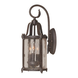 """World Imports - World Imports WI1692 7"""" Wall Lantern from the Old Sturbridge Collection - 7"""" Wall Lantern from the Old Sturbridge CollectionOne of World Imports' best selling foyer families is now available for your home's exterior. With bent clear seedy glass panels and cast leaf details."""