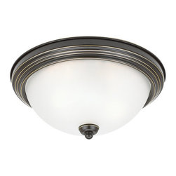 Sea Gull Lighting - Sea Gull Lighting 79163BLE 1 Light Flush Mount Fluorescent Energy Star Ceiling F - Features: