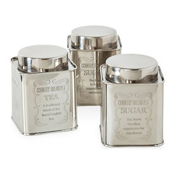 Metallic Canisters - $6.99 (compare at $10)