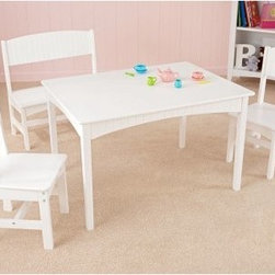 KidKraft Nantucket Table with Bench & Two Chairs - Perfect for families with multiple children the KidKraft Nantucket Table with Bench and Two Chairs is beautiful as well as functional. The kid-tough set has a white finish and wainscoting details. Kids can use the large workspace for working on homework making crafts or even enjoying a tasty meal. Recommended for children 3 and up. Some assembly required. About KidKraftKidKraft is a leading creator manufacturer and distributor of children's furniture toy gift and room accessory items. KidKraft's headquarters in Dallas Texas serve as the nerve center for the company's design operations and distribution networks. With the company mission emphasizing quality design dependability and competitive pricing KidKraft has consistently experienced double-digit growth. It's a name parents can trust for high-quality safe innovative children's toys and furniture.