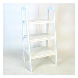 Wayborn - Wayborn Birchwood Ladder Stand in White - Wayborn - Bookcases - 9076W