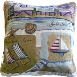 Tache Summer By the Seaside 18 x 18 Inch Throw Cushion Cover, 18 X 18 Inches, 1 - Summer... A time of relaxation and Vacations! Keep a piece of the Seaside with you all year with this vintage Cushion Cover!