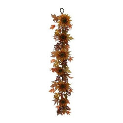 Vickerman 5 ft. Fall Sunflower Berry Garland - About VickermanThis product is proudly made by Vickerman, a leader in high quality holiday decor. Founded in 1940, the Vickerman Company has established itself as an innovative company dedicated to exceeding the expectations of their customers. With a wide variety of remarkably realistic looking foliage, greenery and beautiful trees, Vickerman is a name you can trust for helping you create beloved holiday memories year after year.