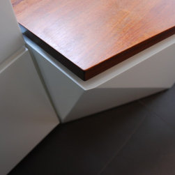 Built-In Furniture - HVAC cabinet cover, turns into bench and storage.