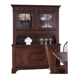 Liberty Furniture Treasures Buffet w/ Hutch in Cherry, Medium Wood