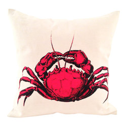Ortolan Organic - Crab Pillow - This pillow makes us think of the perfect beach day filled with sandcastles, sunshine and the odd crustacean scuttling by. It's the ideal beach-house couch accessory.