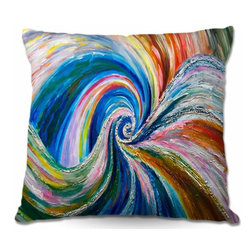 DiaNoche Designs - Pillow Woven Poplin - Spiral - Toss this decorative pillow on any bed, sofa or chair, and add personality to your chic and stylish decor. Lay your head against your new art and relax! Made of woven Poly-Poplin.  Includes a cushy supportive pillow insert, zipped inside. Dye Sublimation printing adheres the ink to the material for long life and durability. Double Sided Print, Machine Washable, Product may vary slightly from image.