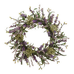 """Origin Crafts - Lavender wreath 20"""" - Lavender Wreath 20"""" Dimensions (in):20"""" By Allstate Floral - Allstate Floral is one of the largest importers of silk and permanent flowers, greenery, home d�cor, and accessories, expertly designed each year for every season and style. Usually ships within three Business Days Please be aware that"""