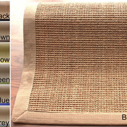 Nuloom - nuLOOM Handmade Alexa Eco Natural Fiber Cotton Border Sisal Rug (8' x 10') - Decorate busy hallways in style with this stain-resistant handmade rug available in three colors bordered with a bold frame. Skillfully crafted out of sisal and cotton,this long-lasting rug repels stains and cleans up easily for added convenience.