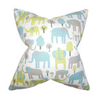 The Pillow Collection - Carleton Animal Print Pillow Blue - Fun and youthful, this accent pillow is the perfect statement piece in your home. This throw pillow features an animal print pattern in shades of blue gray, green and white. Use this decor piece to bring style and comfort to your living room or bedroom. Crafted using 100% soft cotton fabric. Made in the USA.