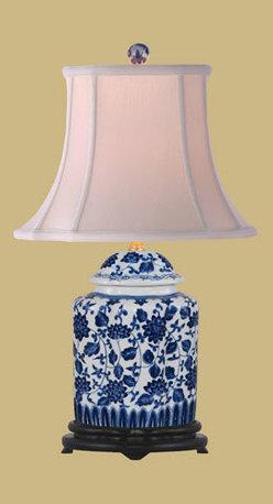 East Enterprise - Scallop Tea Jar Table Lamp - -Rayon shade East Enterprise - LPB20554