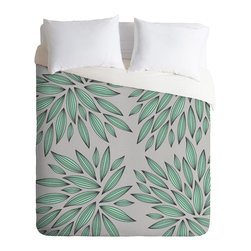 DENY Designs - Gabi Mint Duvet Cover - Turn your basic, boring down comforter into the super stylish focal point of your bedroom. Our Luxe Duvet is made from a heavy-weight luxurious woven polyester with a 50% cotton/50% polyester cream bottom. It also includes a hidden zipper with interior corner ties to secure your comforter. it's comfy, fade-resistant, and custom printed for each and every customer.