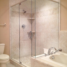 Traditional Bathroom by H&M Glass Hershey
