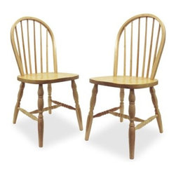 Winsome Windsor Chairs with Carved Leg - Set of 2 - Light Wood - This set of two Windsor Chairs With Carved Legs makes a lovely addition to any dining set. These chairs feature round backs and beautifully carved turned legs. Made from solid beech wood in a charming light oak finish these chairs are perfect for any decor. Assembly required. Dimensions: 17.25W x 18D x 36.1H inches.About Winsome TradingWinsome Trading has been a manufacturer and distributor of quality products for the home for more than 30 years. Specializing in furniture crafted of solid wood Winsome also crafts unique furniture using wrought iron aluminum steel marble and glass. Winsome's home office is located in Woodinville Wash. The company has its own product design and development team offering continuous innovation.