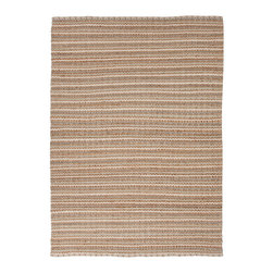 Jaipur Rugs - Natural Solid Pattern Jute/Cotton Beige /Brown Rug - AD03, 8x10 - Joyfully go barefoot with this nubby, ecofriendly rug. The delightful texture makes it as pleasing to look at as it is to walk over. It's handwoven with jute and recycled cotton so you can feel good about making your floors look great.