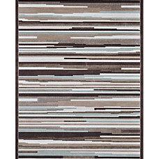 Madison Blue/ Brown Rug (5'3 x 7'7)