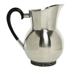 Lavish Shoestring - Consigned Stainless Steel Lemonade Water Jug by Oneida, Vintage American - This is a vintage one-of-a-kind item.