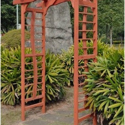 Outerior Decor Products Sierra Garden Arbor - Right at home nestled in the back of your garden, or equally pleasing at the entrance to your backyard, the Outerior Decor Products Sierra Garden Arbor needs a home in your backyard. This wood arbor is easy to assemble and features a nice combination of curved and straight lines. Climbing vines will adore it as much as you will.About Blue Marble Designs, LLCInnovative and solutions-based, Blue Marble Designs crafts and sells unique garden and home decor. They pride themselves on listening closely to their customers' needs to develop products and solutions that will satisfy those needs. Their pricing is highly competitive because their overhead is low. An eco-centric company, Blue Marble's efforts have resulted in shipping and packaging designs that are kind to the environment while providing their customers with the highest quality product at the lowest cost. Finally, only Blue Marble Designs offers Easy Does It Assembly, eco-innovative product designs that maximize product density and minimize transportation costs. All wood products are made of the highest quality renewable wood harvested only from responsibly managed forests.