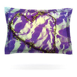 "Kess InHouse - Anne LaBrie ""Purple Tiger Love"" Purple Yellow Pillow Sham (Woven, 30"" x 20"") - Pairing your already chic duvet cover with playful pillow shams is the perfect way to tie your bedroom together. There are endless possibilities to feed your artistic palette with these imaginative pillow shams. It will looks so elegant you won't want ruin the masterpiece you have created when you go to bed. Not only are these pillow shams nice to look at they are also made from a high quality cotton blend. They are so soft that they will elevate your sleep up to level that is beyond Cloud 9. We always print our goods with the highest quality printing process in order to maintain the integrity of the art that you are adeptly displaying. This means that you won't have to worry about your art fading or your sham loosing it's freshness."