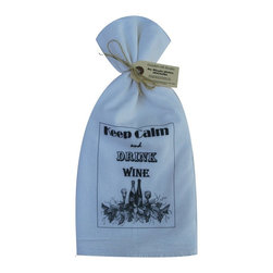 Keep Calm/Drink Wine    Flour Sack Towel  Set of 2 - A fabulous set of 3 flour sack towels. This set features a great saying�.Keep Calm Drink Wine.   These towels are printed in the USA by American Workers!