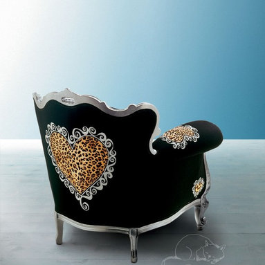 Alice Creazioni - ALICE gold and black Armchair Creazioni from £2,450. Ships worldwide. Email ilive@imagine-living.com