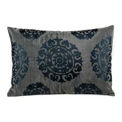 Suzani Pillows - Silk Suzani (gray tones)
