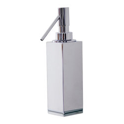 WS Bath Collections - WS Bath Collections Metric Soap Dispenser in Brushed Stainless Steel - High Quality Designer Bathroom Accessories