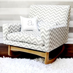 Nurseryworks Sleepytime Rocker - I love the idea of having a rocker in a nursery instead of a glider. They're much more chic and less bulky. You can't go wrong with this one by Nurseryworks in chevron.