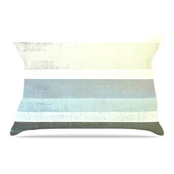 "Kess InHouse - CarolLynn Tice ""No Limits"" Teal Brown Pillow Case, Standard (30"" x 20"") - This pillowcase, is just as bunny soft as the Kess InHouse duvet. It's made of microfiber velvety fleece. This machine washable fleece pillow case is the perfect accent to any duvet. Be your Bed's Curator."