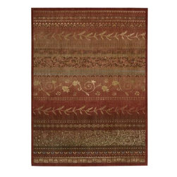 "Nourison - Nourison Radiant Impressions LK02 2'3"" x 8' Crimson Rug - Made from the finest New Zealand wool, these woven rugs present vibrant colors in an assortment of patterns with a modern twist. Each distinctive rug offers a variety of styling options for any room in the home."