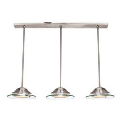 Access Lighting - Access Lighting 50443-BS/8CL Phoebe Modern Pendant Light - Brushed Steel - Access Lighting 50443-BS/8CL Phoebe Modern Pendant Light In Brushed Steel