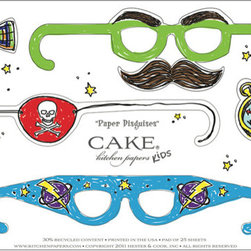 Paper Placemats, Disguises - Plan a children's party where your little guests can punch out glasses from these paper placemats to wear during the bash.
