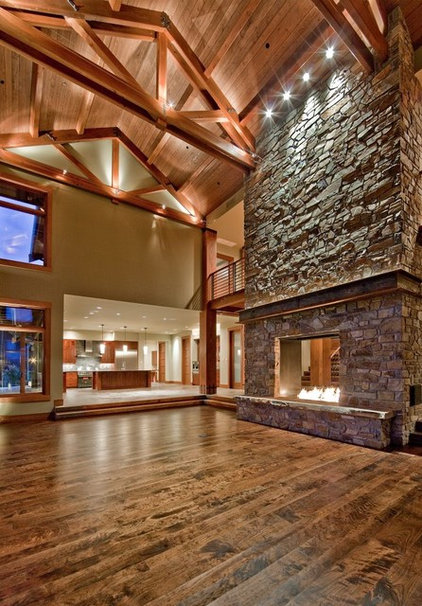 Contemporary Family Room by Estate Homes Inc